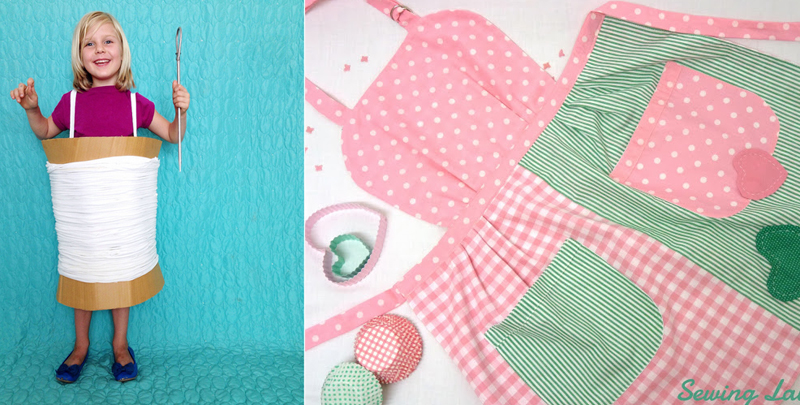 Spool and thread costume,retro apron project