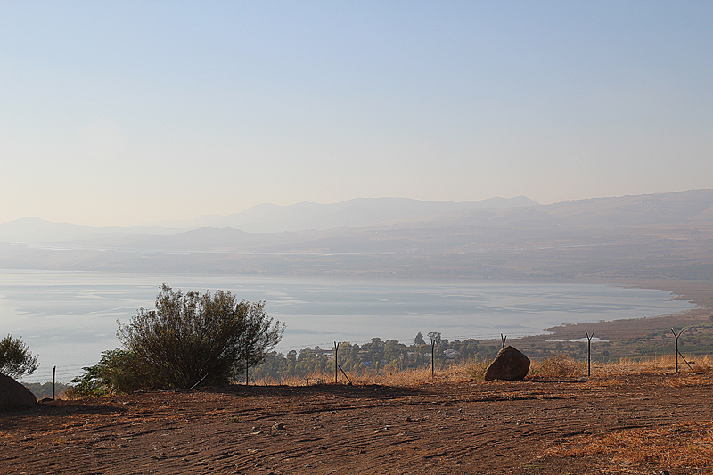 Golan Heights, Moshav Ramot, view of Lake Tiberius