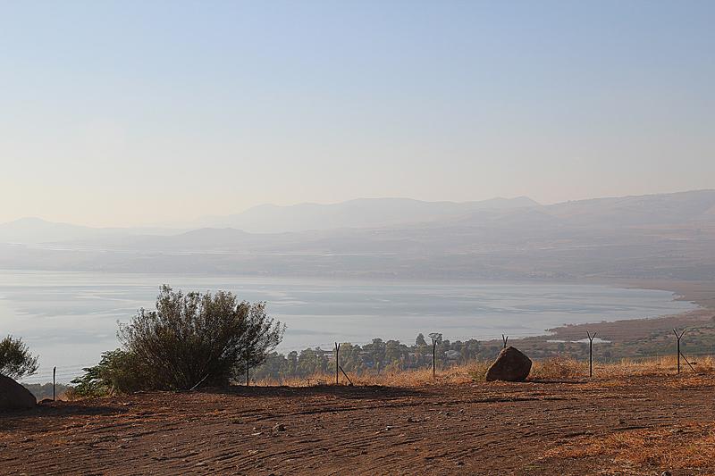 Golan Heights, Moshav Ramot, view of Lake Tiberius