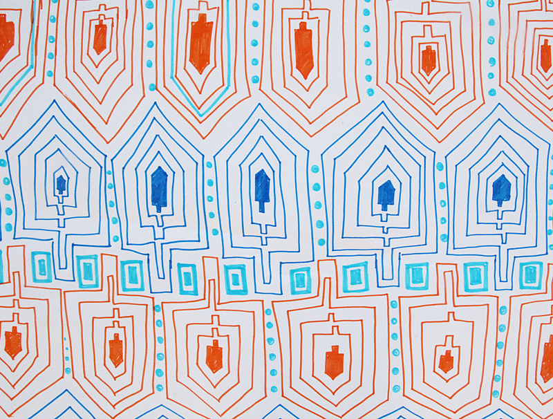 Doodle Wrapping Paper For Chanukah