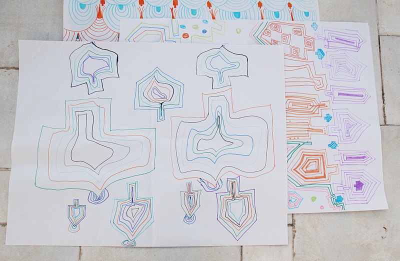 Doodle Wrapping Paper For Chanukah Kid's Craft