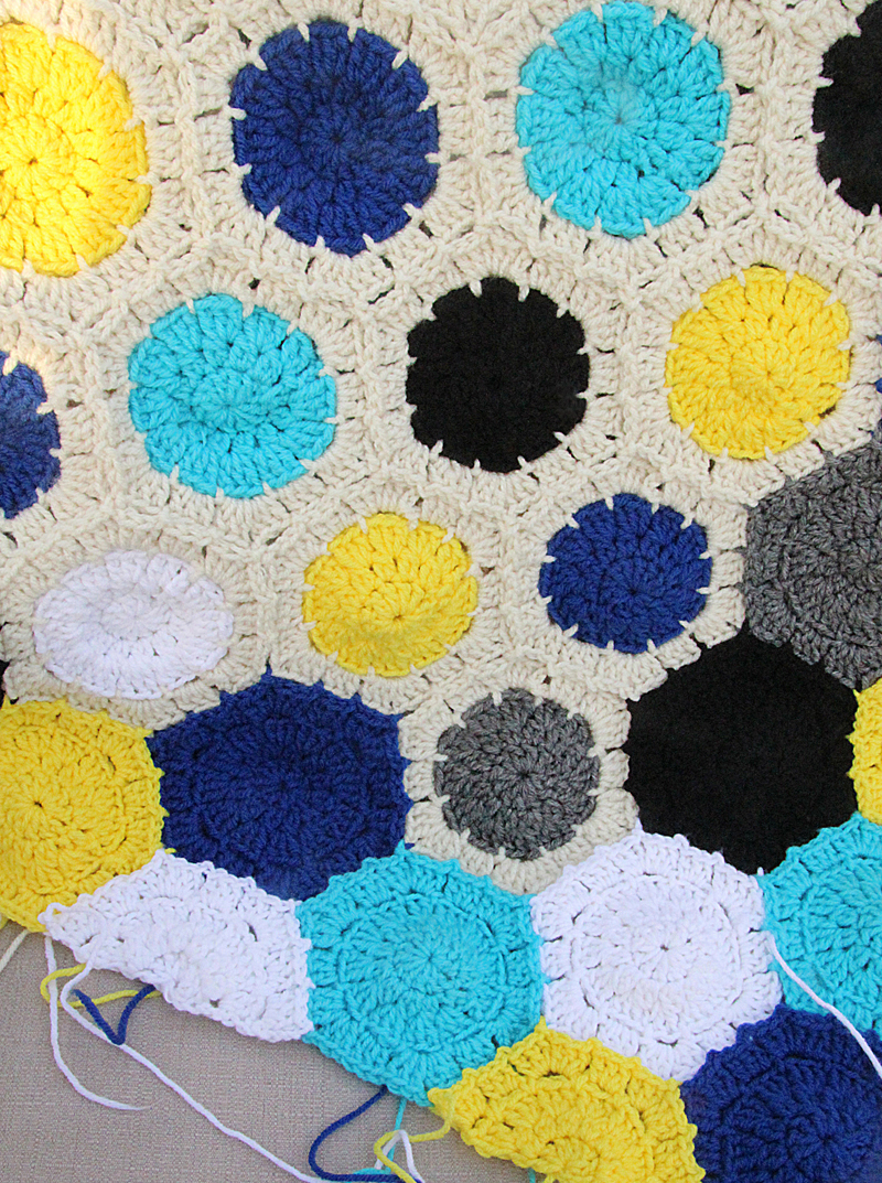 Granny Hexigon Blanket In Progress