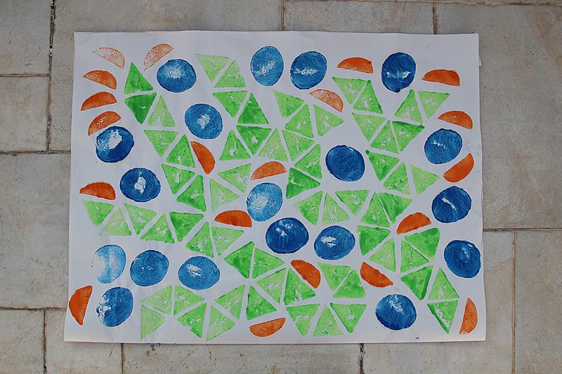 Potato Print Wrapping Papter Geometry