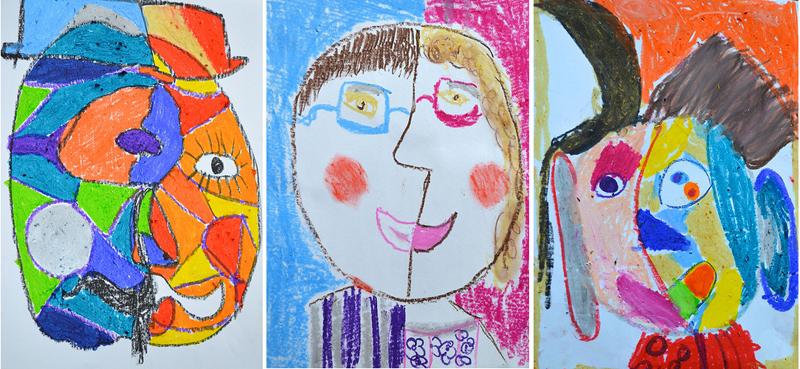 Kid's Picasso Portraits