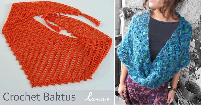 Baktus scarf, continuous scarf wrap