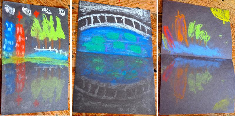 Pastel Kid's Drawing Ode To Monet