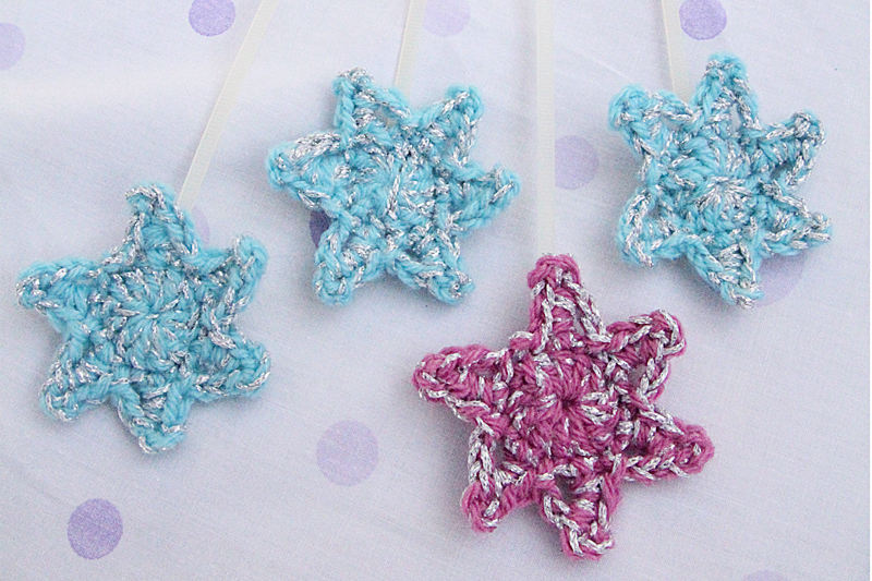 Small Crocheted Star Bookmarks With Zip Ties - The Perfect Tiny Gift ...