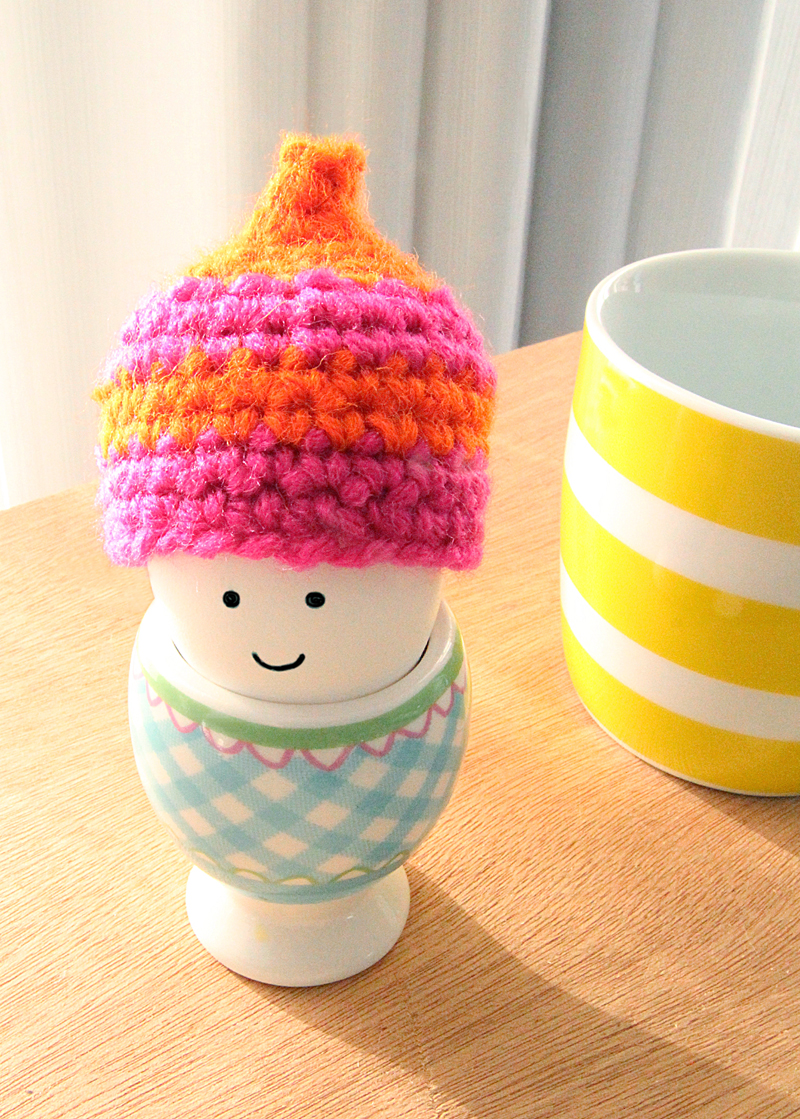 Crocheted Egg Cozy Winter Hat