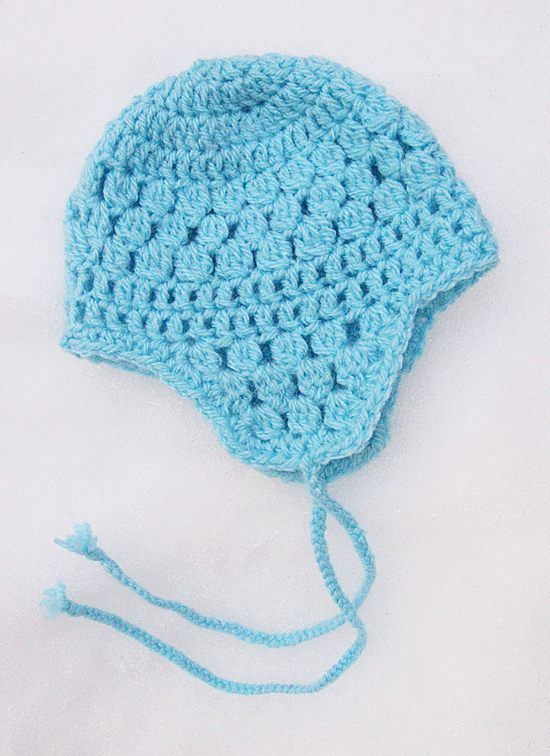 Crocheted Ear Flap Hat