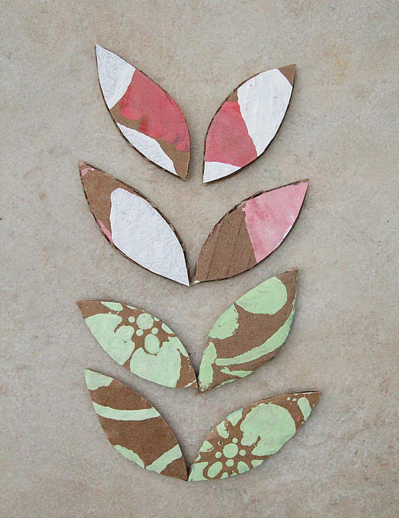 Cardboard Box Graffiti Paint Leaves