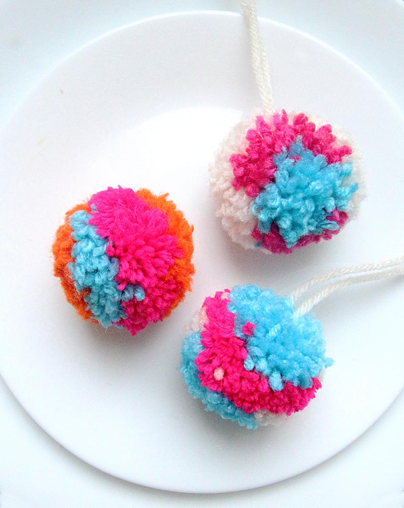 Pom Multi Colored Kids Craft