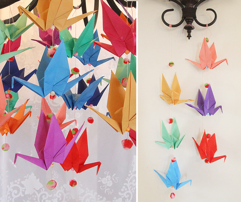 Shabbat shira origami bird mobile