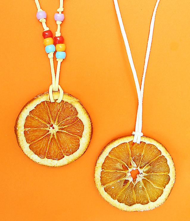 Tu B'shevat roundup. orange slice necklaces