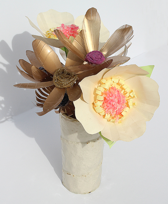 Tu B'Shevat craft roundup plastic bottle flower bouquet
