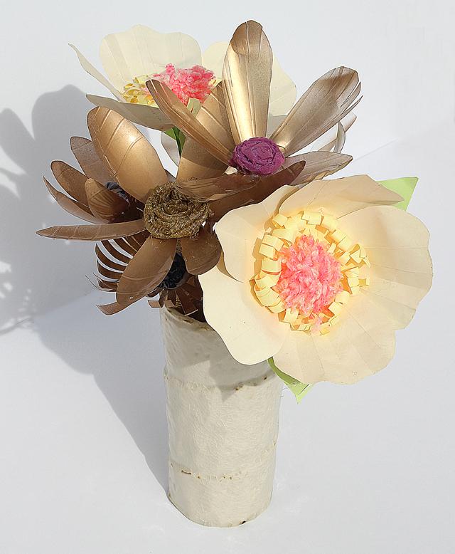 Tu B'Shevat craft roundup plastic bottle flower bouquet