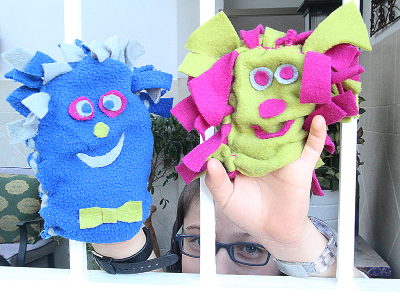 No-Sew Fleece Puppet Craft For Kids! - creative jewish mom