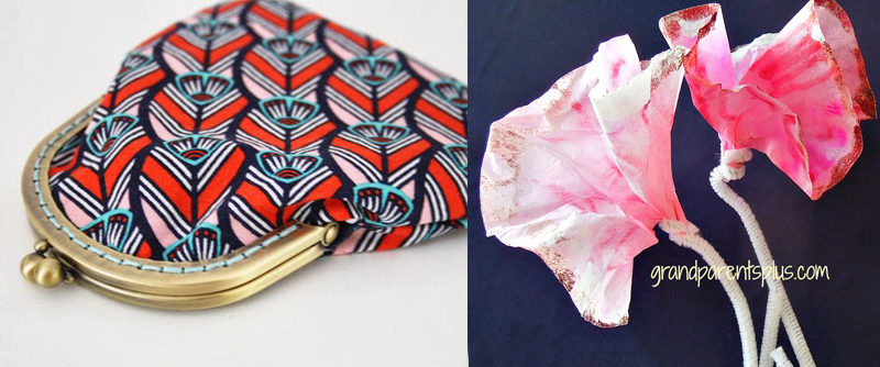 Coin purse how-to,,coffee filter flowers