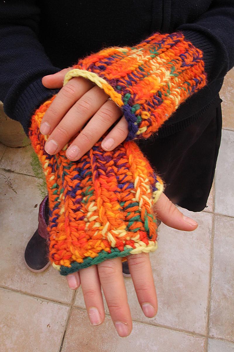 Crocheted Chunky Wrist Warmers
