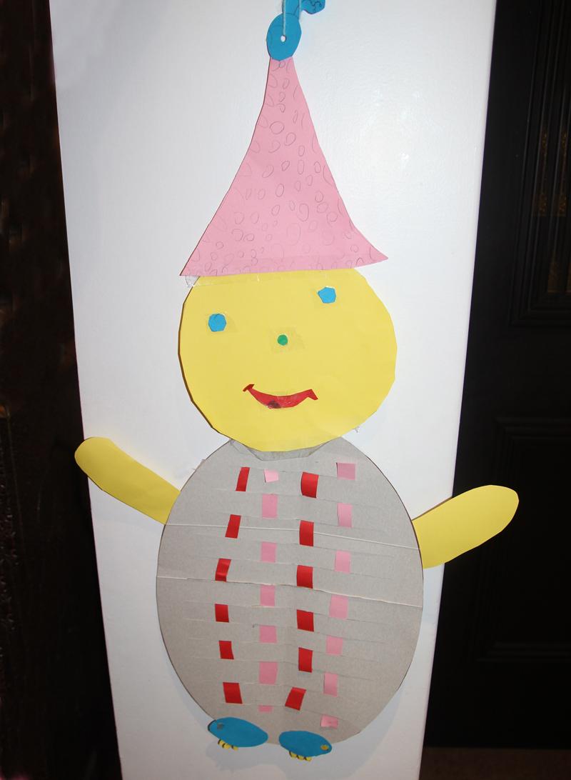 Kid's Craft Woven Paper Clown