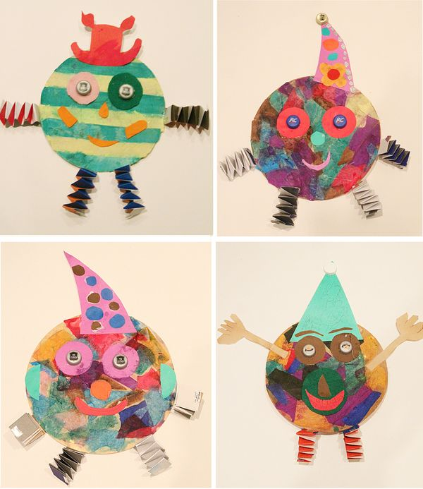 Tissue Paper Collage Clown Craft For Purim! - creative jewish mom