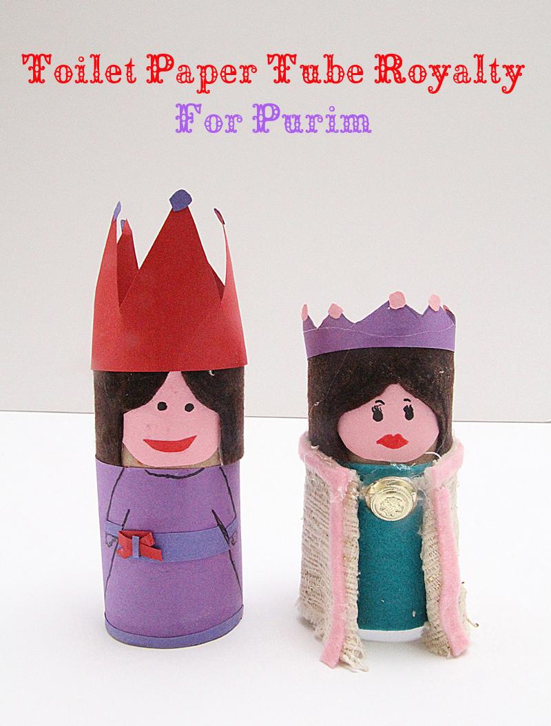 Toilet Paper Tube Dolls Queen Esther