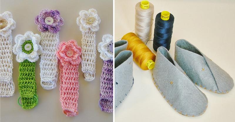 Crocheted baby headbands,felt baby shoes