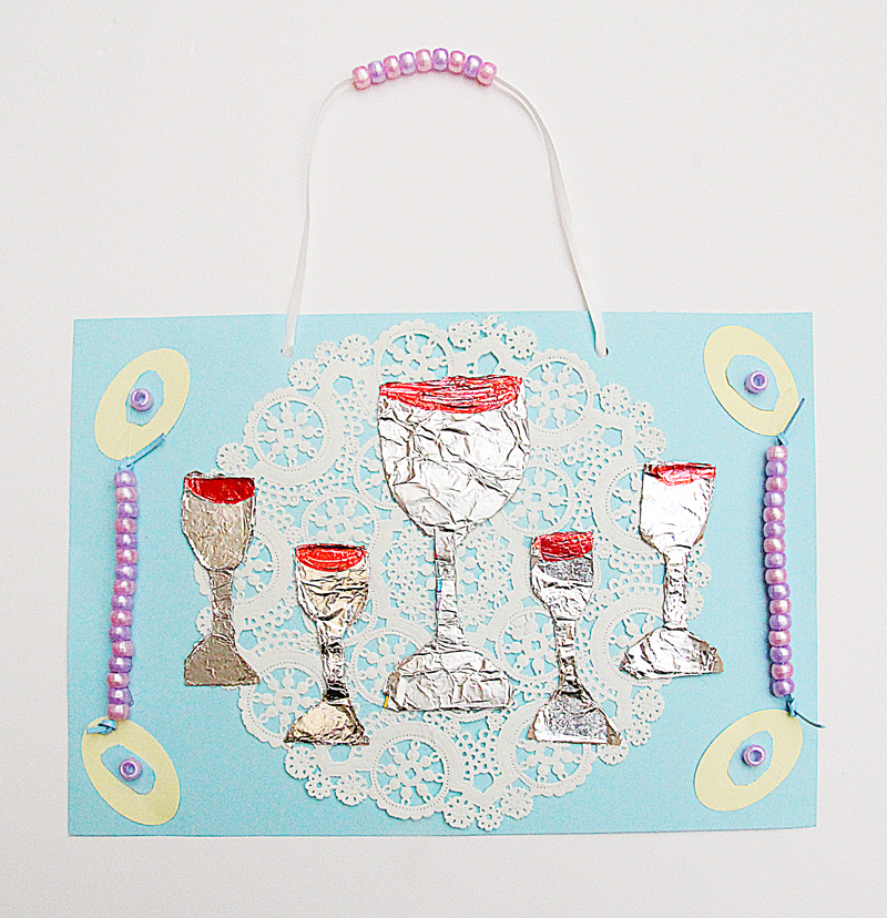 Passover Kid's Craft- Four Cups and Elijah's Cup