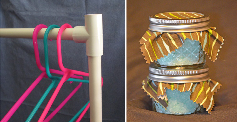 Pvc pipe clothes rack,DIY bath salts