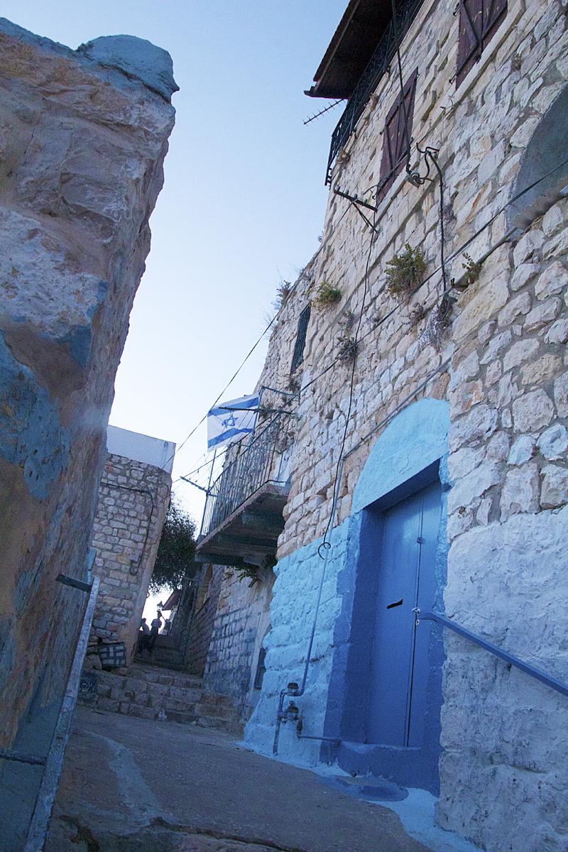 Bloor Door Cobblestone alley Safed