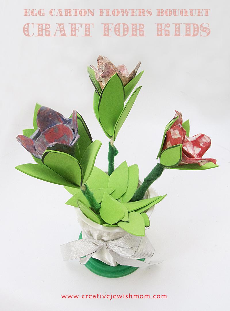 Egg Carton Flowers Bouquet Craft