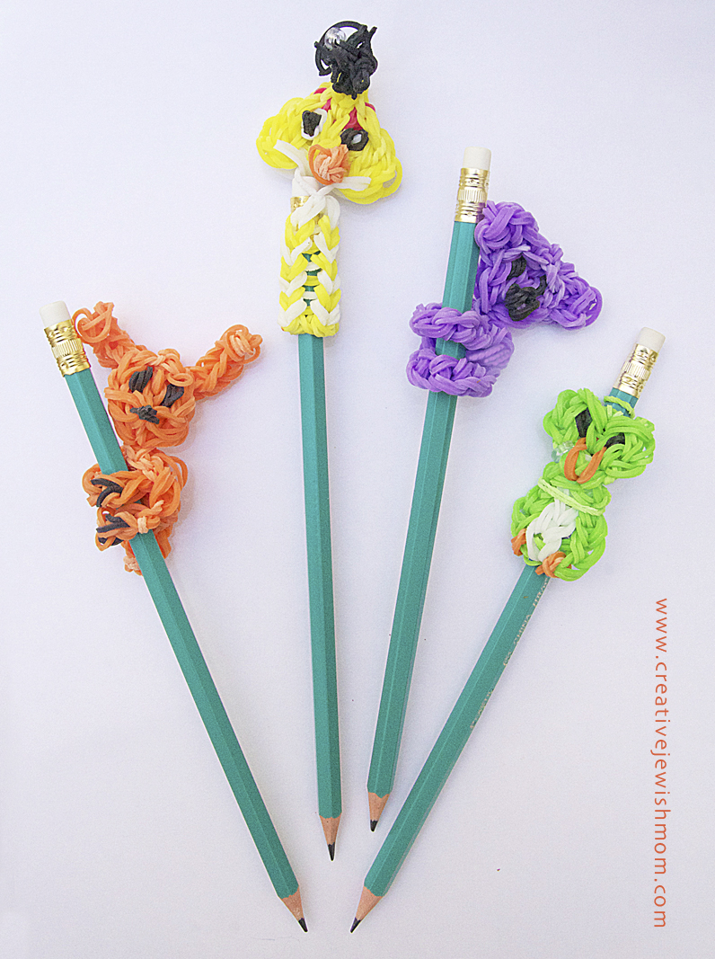 Rainbow Loom Pencil Toppers