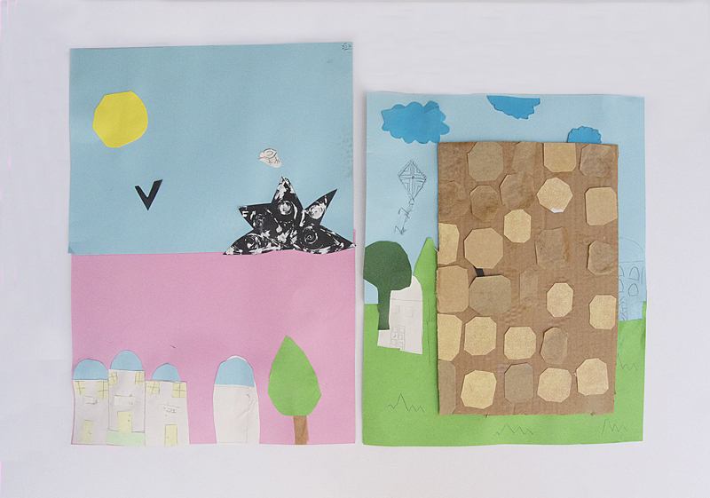 Kotel Jerusalem Collage craft for kids