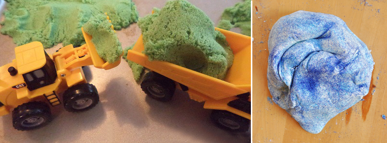 Kinetic sand for kids,super soft playdough recipe