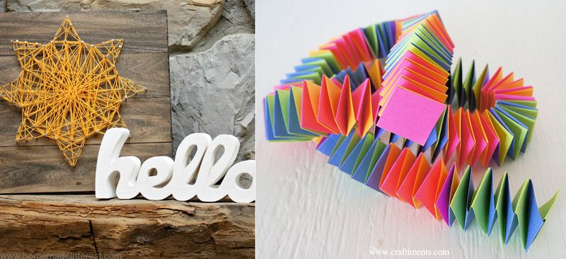 String art,accordian folded paper garland