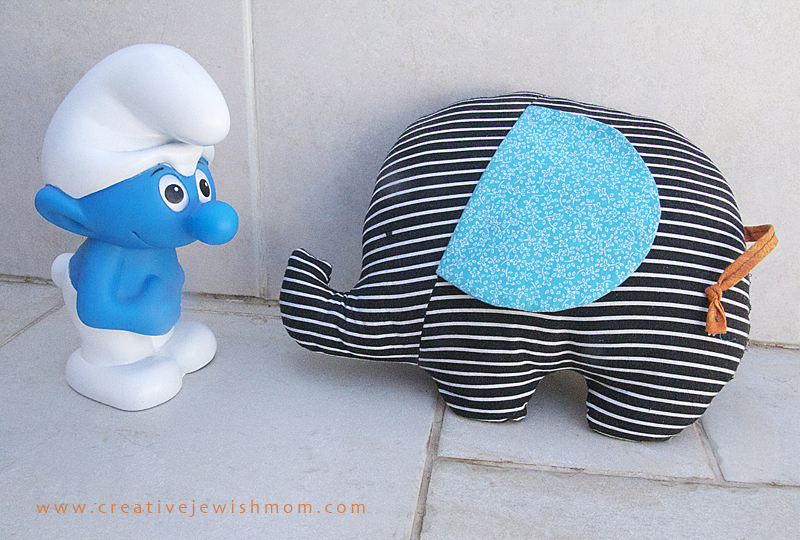 Stuffed elephant toy simple to sew