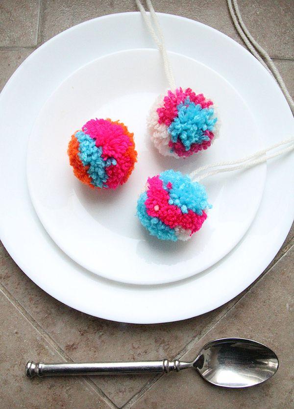 Fun Multi Colored Pom Pom Craft Creative Jewish Mom