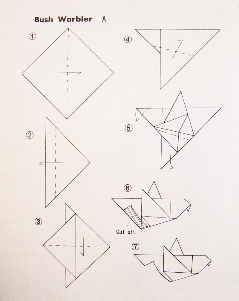 Simple Origami Bird Instructions