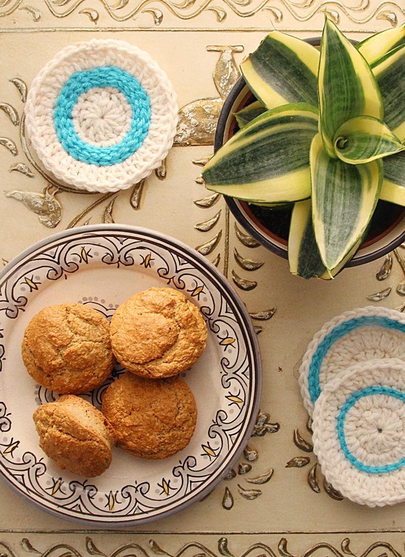 Oat Flour Muffins With bird's nest Sansevieria