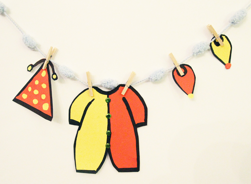 Purim Clothesline Craft 4