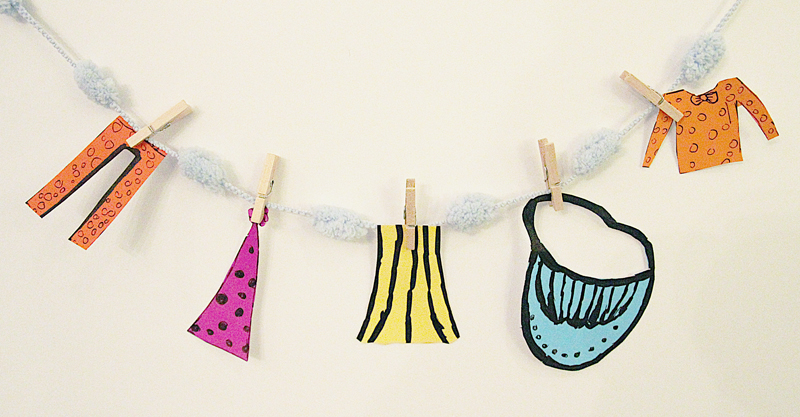 Purim Costumes Clothesline 1