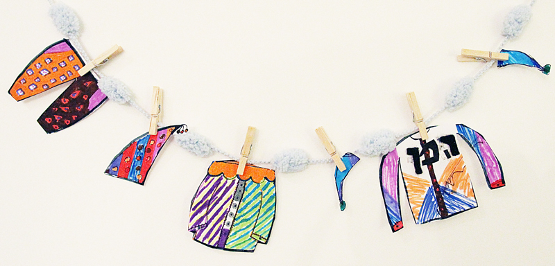 Purim Costume Clothesline craft for boys 10