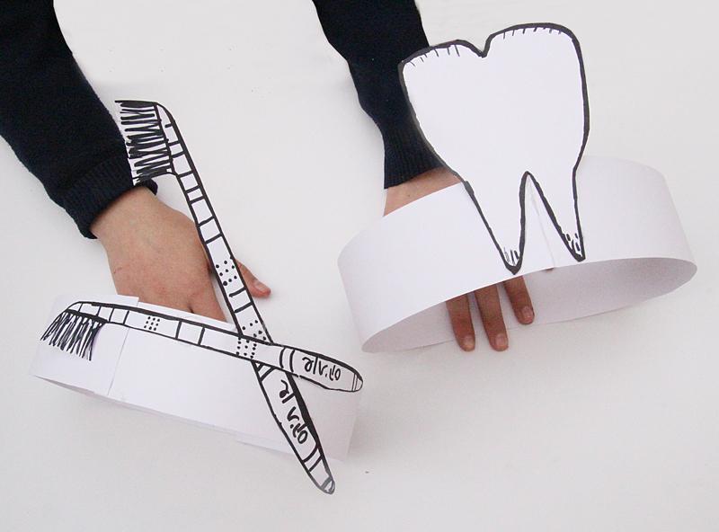Cardboard and Paper Props Headbands