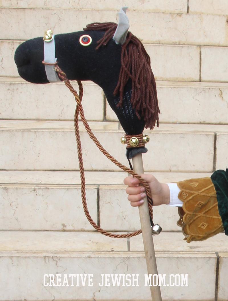 Sock Hobby Horse Diy Fit For A King Or Mordechai Hatzaddik Creative Jewish Mom