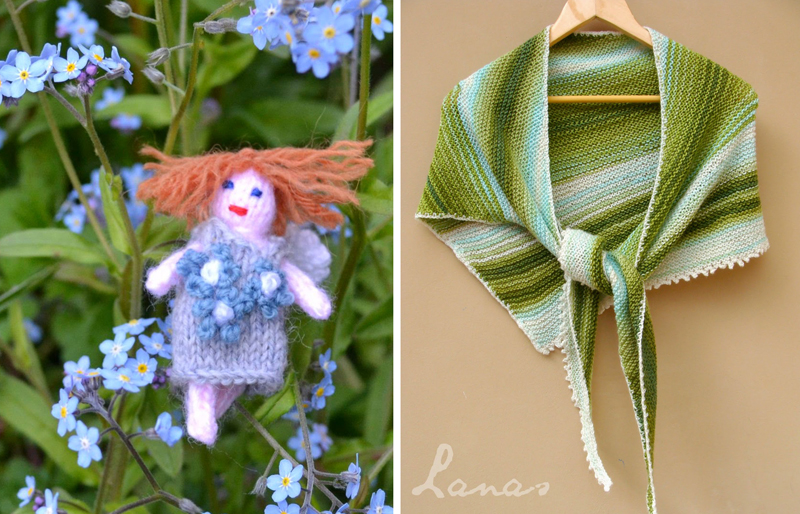 Knit fairy,knit triangular shawl