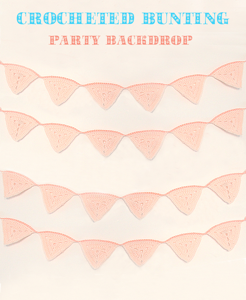 Crocheted Triangular Bunting Backdrop
