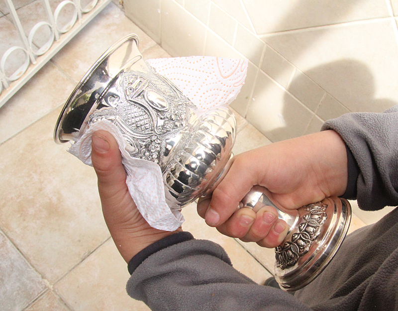 Passover polishing goblet