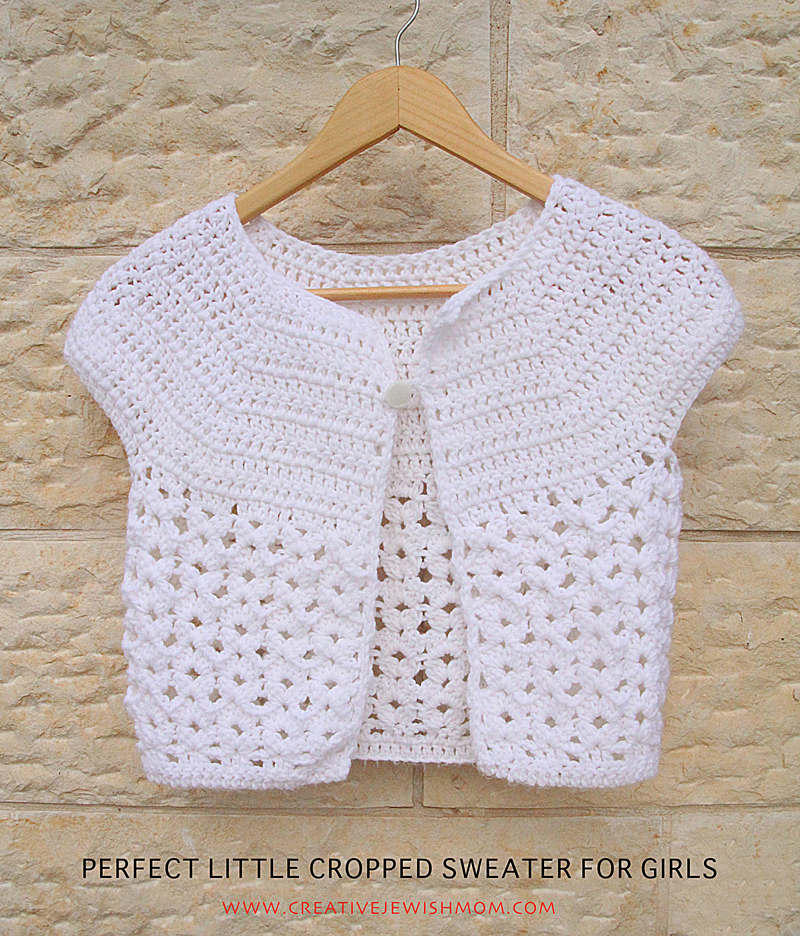 Crocheted Cap Sleeved Sweater For Girls That You Can Easily