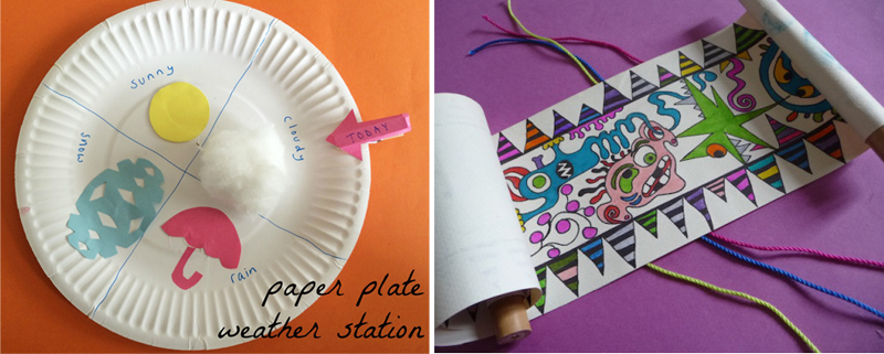 Paper-plate-weather-station, monster scroll