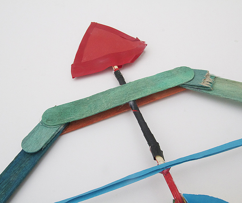 Popsicle Stick Bow With Skewer Arrows How To