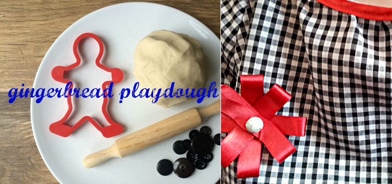 Gingerbread playdough,ribbon flower